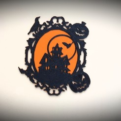 Download 3D printing files Halloween frame, catf3d
