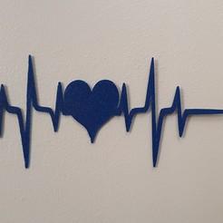 Descargar diseños 3D el latido de mi corazón 2 = 4 líneas de vida, catf3d