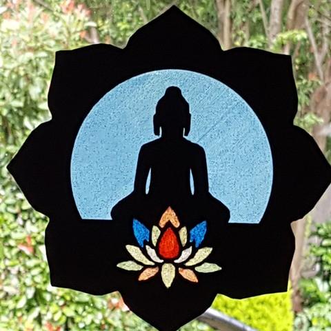 Descargar STL Buda y su loto, catf3d