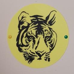 20190324_170414.jpg Télécharger fichier STL tableau tigre • Plan pour imprimante 3D, catf3d