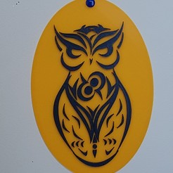 "Download 3D printer designs very nice ""owl"" painting:-), catf3d"