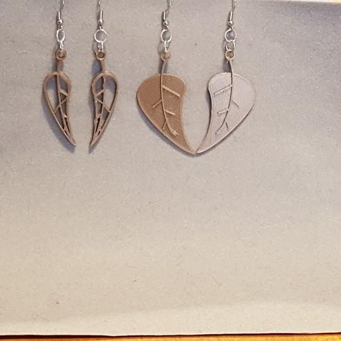 earring leaves 3D model, catf3d