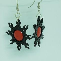 3D print model sunny earring clip, catf3d