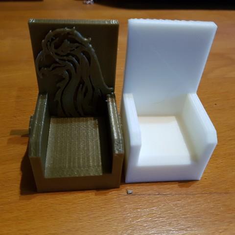 Descargar Modelos 3D para imprimir gratis 2 sillones playmobil, catf3d