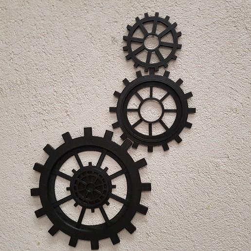20180814_095810.jpg Download STL file gear decoration • 3D printer template, catf3d