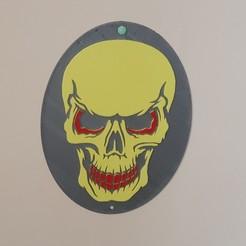 """20191113_102304.jpg Télécharger fichier STL Le tableau """"tête de mort"""" en relief • Modèle imprimable en 3D, catf3d"""