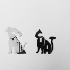 20200229_162530.jpg Download STL file dog, cat • 3D printing model, catf3d