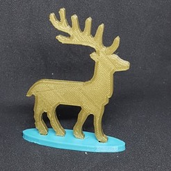 Free 3D printer files Santa Claus' reindeer, catf3d
