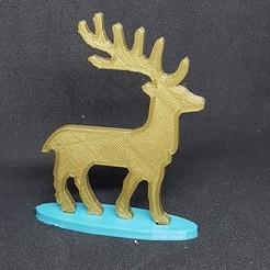 Descargar STL gratis Los renos de Papá Noel, catf3d