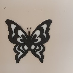 Download 3D printing designs butterfly in relief, catf3d
