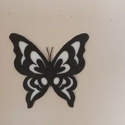 Descargar archivos 3D mariposa en relieve, catf3d