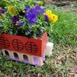 3D printer files colorful planter, catf3d