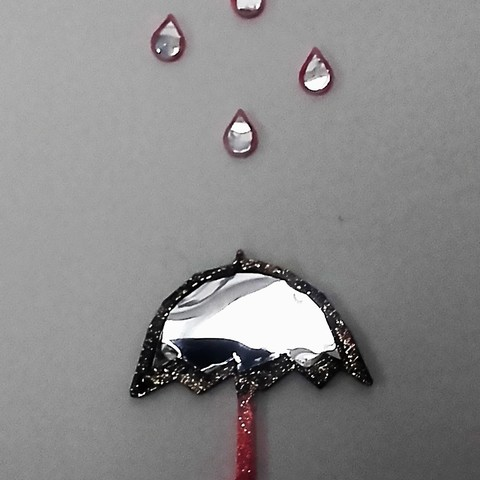 STL files Umbrella and its small drops of water, catf3d