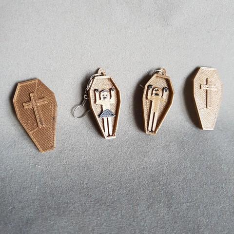 Plan 3D boucles d'oreilles cercueil et boite, catf3d
