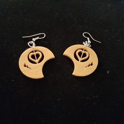 Free 3d printer files round heart earring, catf3d