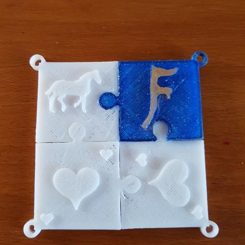 20180322_171055.jpg Download STL file puzzle key ring • 3D printing design, catf3d