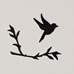 Free perched birds STL file, catf3d