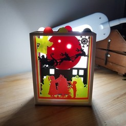 Imprimir en 3D entorno navideño ciudad y campo, catf3d