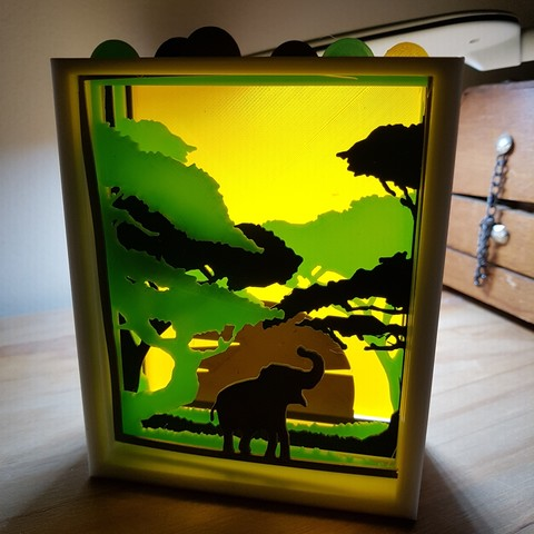 Download 3D printing models savannah setting, catf3d