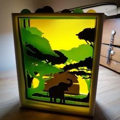 20181225_173830.jpg Télécharger fichier STL cadre savane • Objet pour imprimante 3D, catf3d