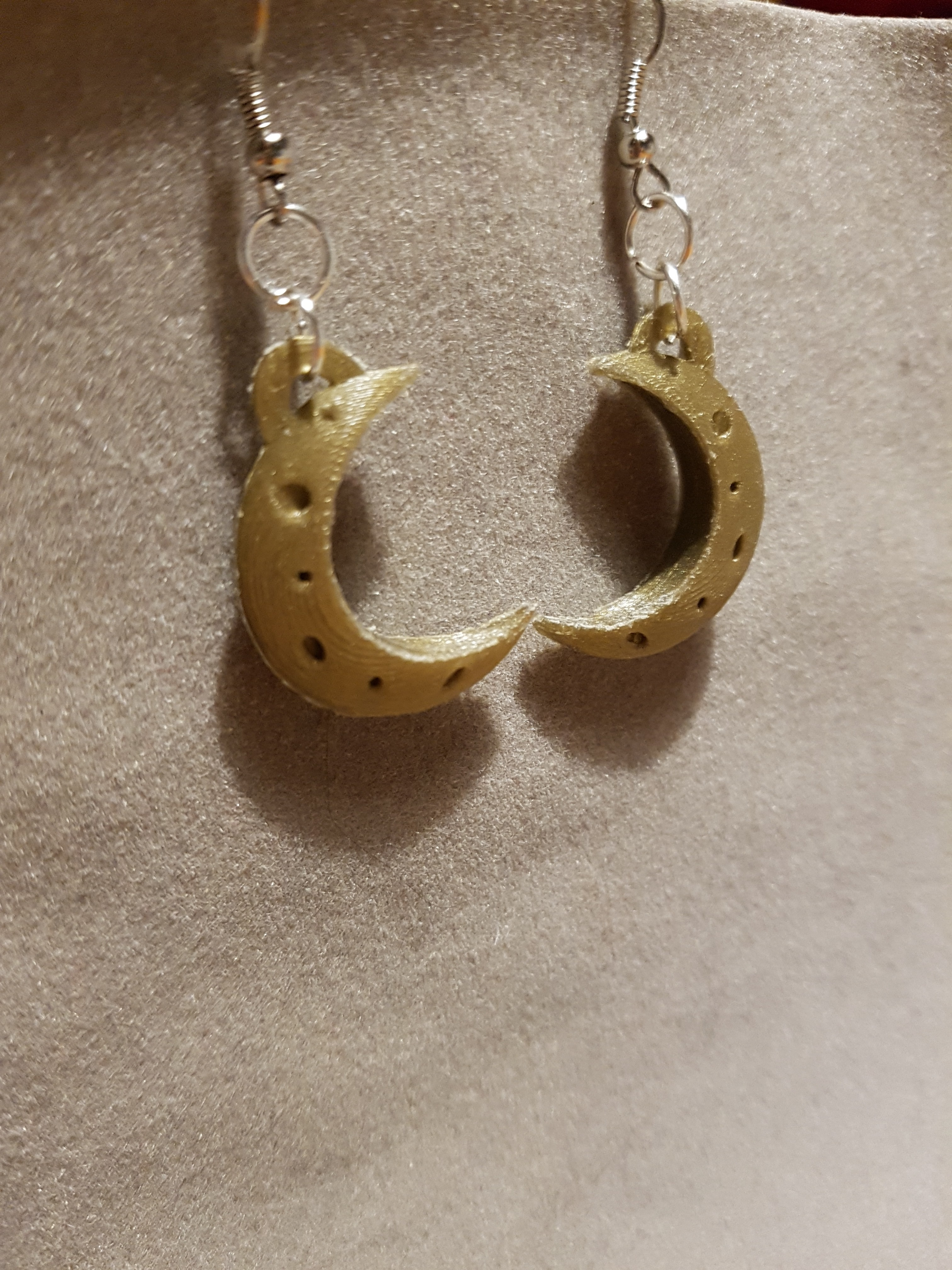 20180204_193009.jpg Download STL file 2 moon earrings • Template to 3D print, catf3d