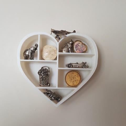 20170707_093255.jpg Download STL file Heart shelf • 3D printing model, catf3d