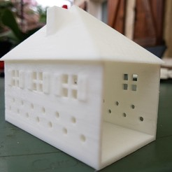 stl file SMALL ILLUMINATED HOUSE, catf3d