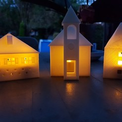3D print model ILLUMINATED CHURCH, catf3d