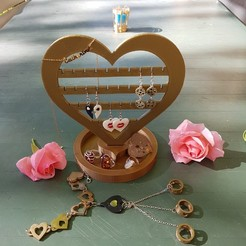 3d model heart jewelry stand, catf3d
