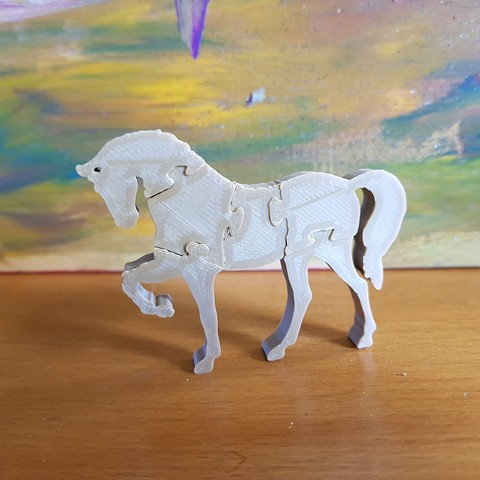 """STL file THE """"HORSE PUZZLE"""" KEY RING, catf3d"""