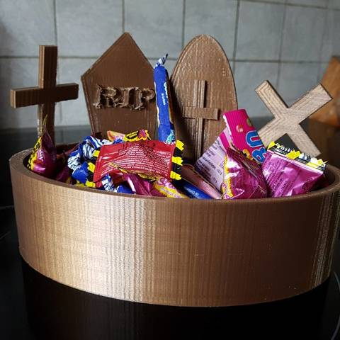 Download 3D printing files candy box for halloween, catf3d