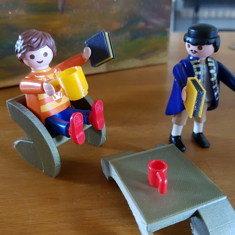 Free STL files furniture and accessories for playmobil, catf3d