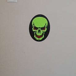 "Download 3D printer files The painting ""skull and crossbones"" in relief, catf3d"