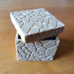 "3D printer models small ""stone"" box, catf3d"