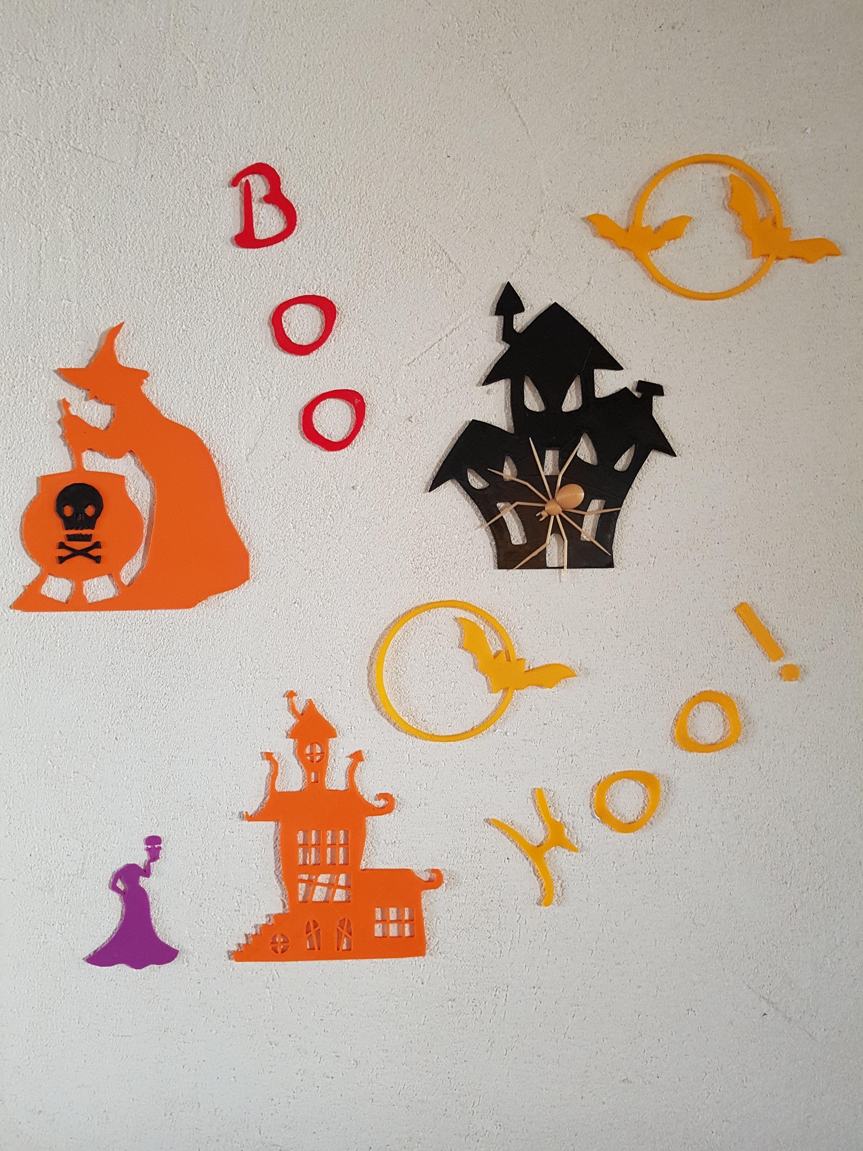 20180930_174750.jpg Download STL file Halloween (full of wall decoration) • 3D print model, catf3d