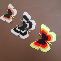 Modelos 3D para imprimir mariposas en relieve, catf3d