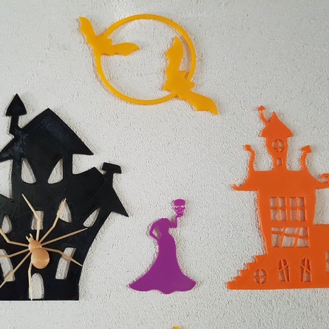 20180930_180142.jpg Download STL file Halloween (full of wall decoration) • 3D print model, catf3d