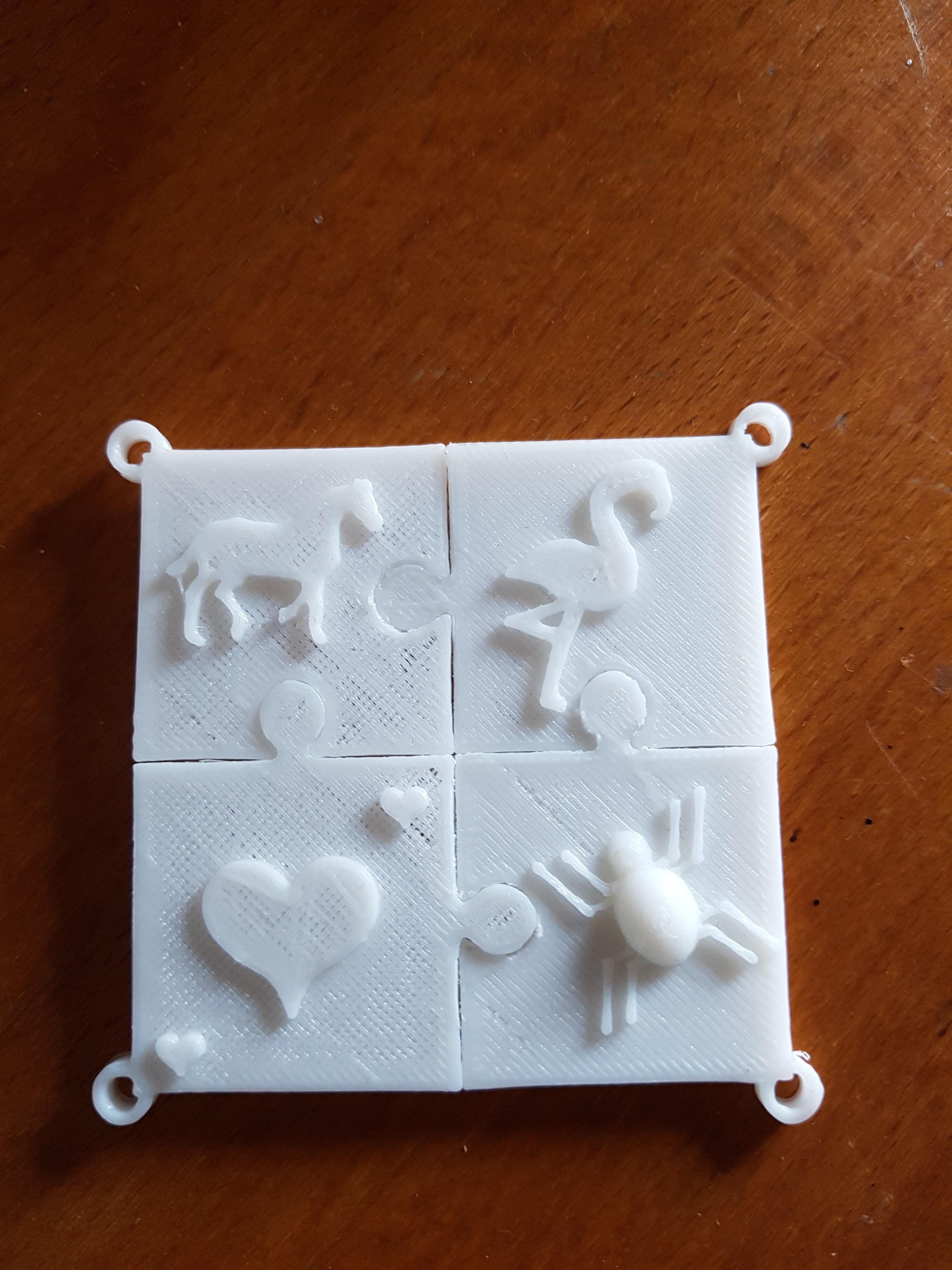 20180325_154449.jpg Download STL file puzzle key ring • 3D printing design, catf3d