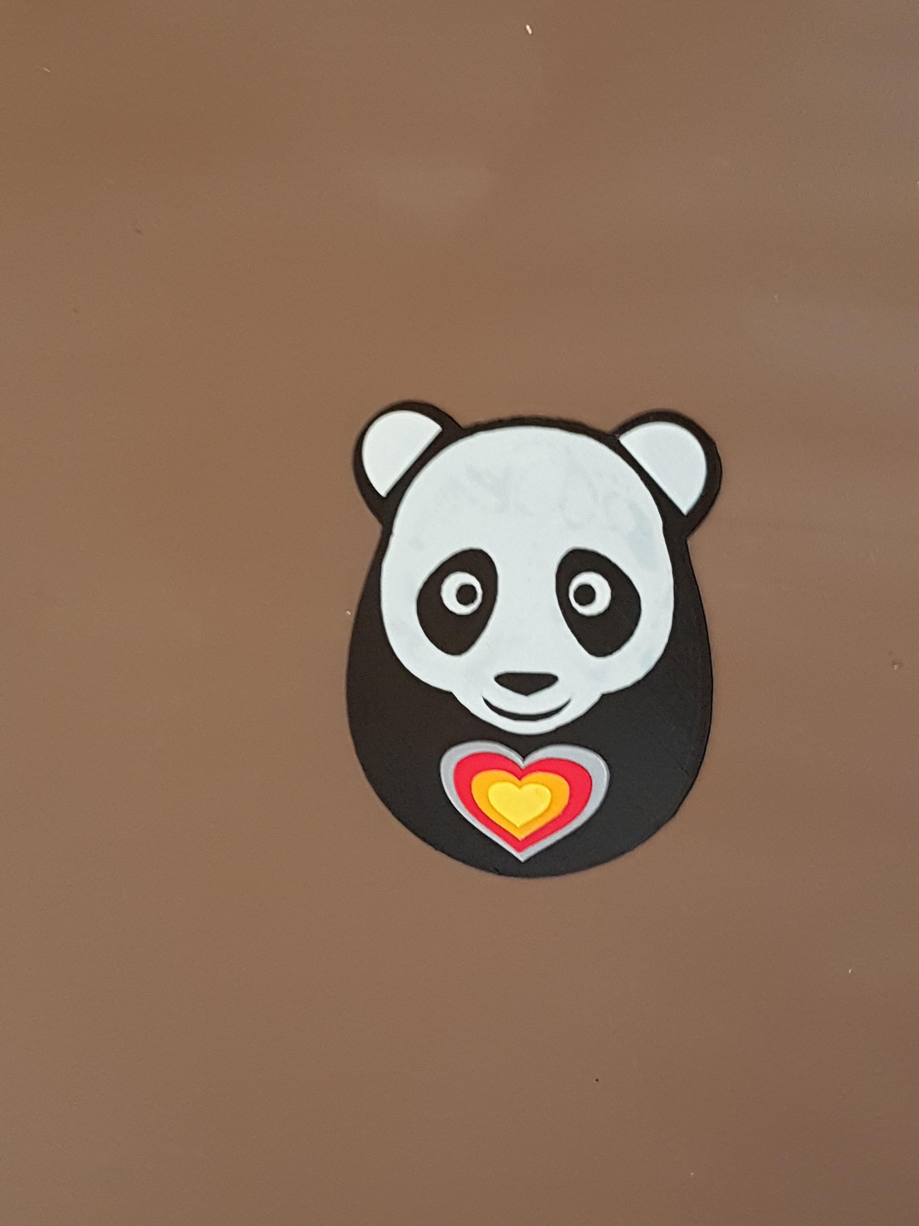 20170804_101234.jpg Download STL file panda hearts decoration • 3D printer template, catf3d