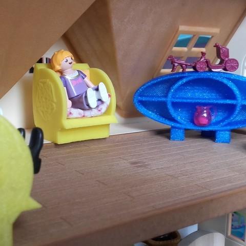 plan 3d gratuit petit meuble pour playmobil catf3d - Playmobil Gratuit