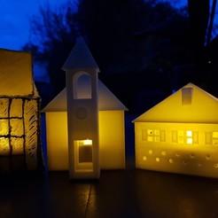 Download 3D printing designs ILLUMINATED CHURCH, catf3d
