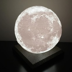 lunaJPG.jpg Download STL file Moon Lamp HD • 3D printing design, RodrigoDagaz