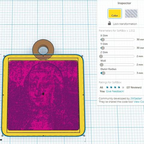 Capture d'écran 2017-01-17 à 14.53.04.png Download free STL file Lithophane Mona Lisa • 3D printable design, robinfang