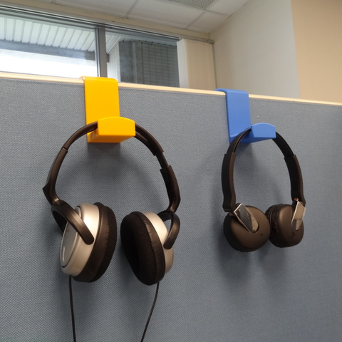 Free 3D printer model Headphone holder, robinfang