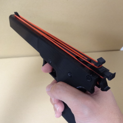 Download free 3D printer designs Rubber band gun, robinfang