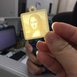 Free 3D printer file Lithophane Mona Lisa, robinfang
