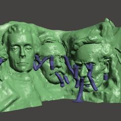 Download free 3D printer templates Mount Rushmore with Yoda, Pator12