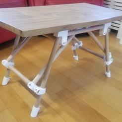 Download free STL files Da Vinci coffee table (Low table), LouD3D