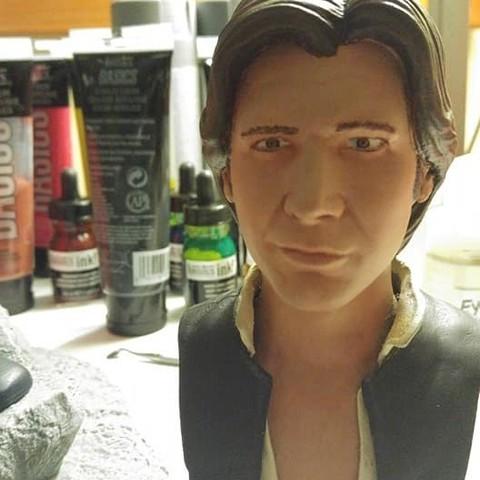 Free 3D printer model Han Solo Bust, RichardCleveland