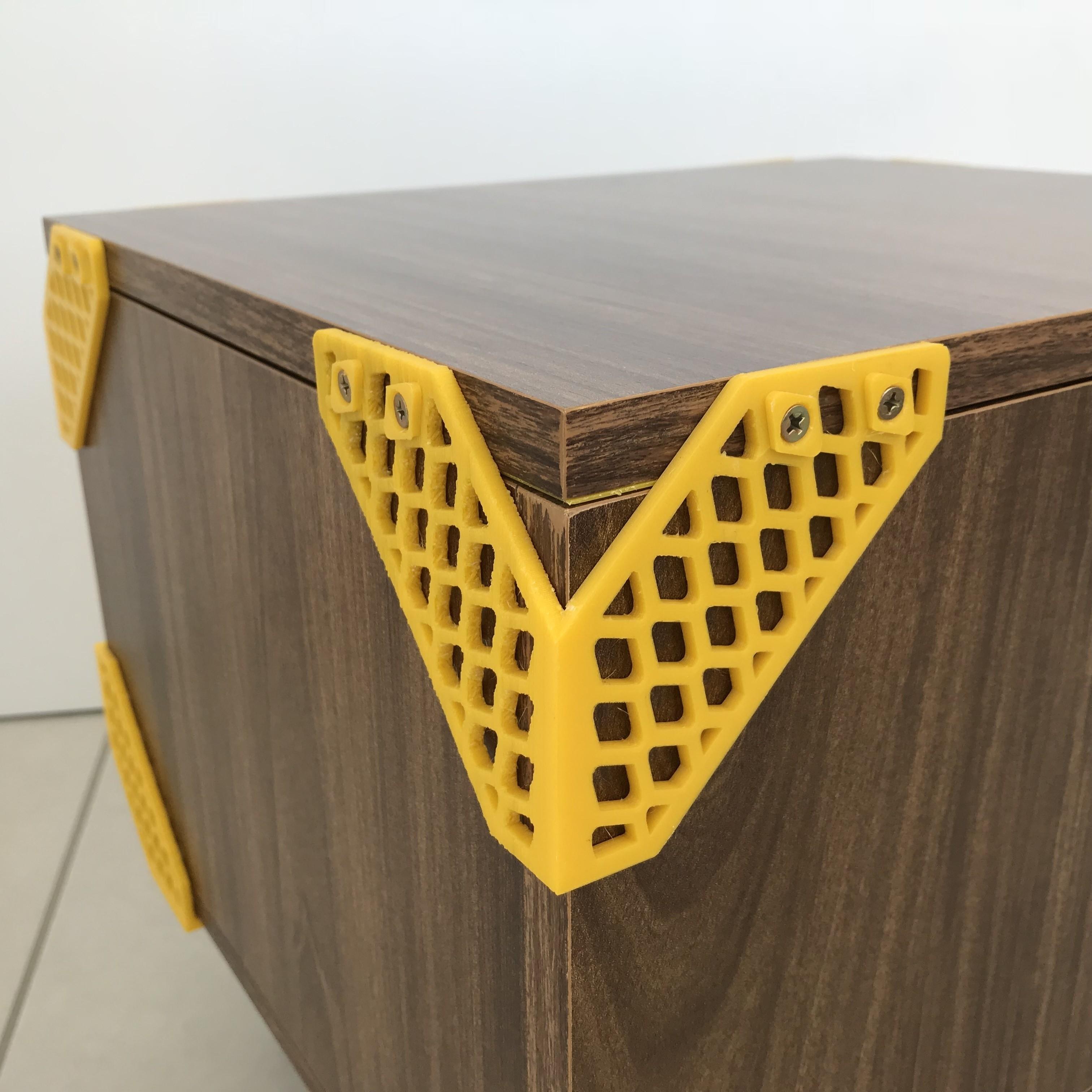 Mateus Machado_Cantoneira Trama _Print Mobi_01.JPG Download free STL file Furniture Cantoneiras Trama Print Mobi • 3D printing template, mateusmachado